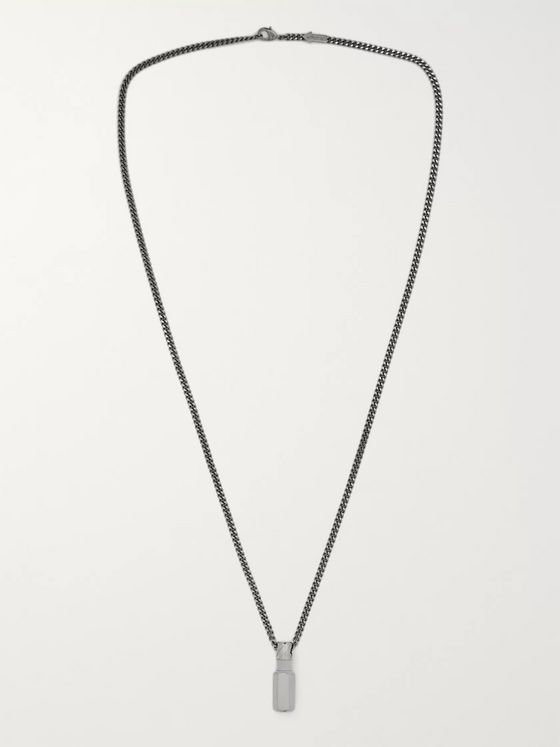 Off-White Hex Nut Silver-Tone Necklace
