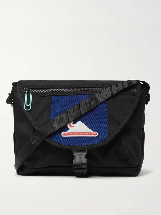Off-White Appliquéd Canvas and Ripstop Messenger Bag