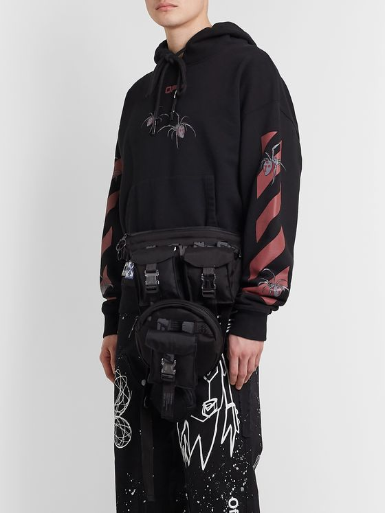 Off-White Convertible Ripstop, Canvas and Mesh Belt Bag