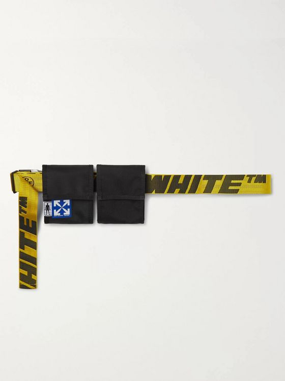 Off-White Logo-Jacquard Webbing and Canvas Belt Bag