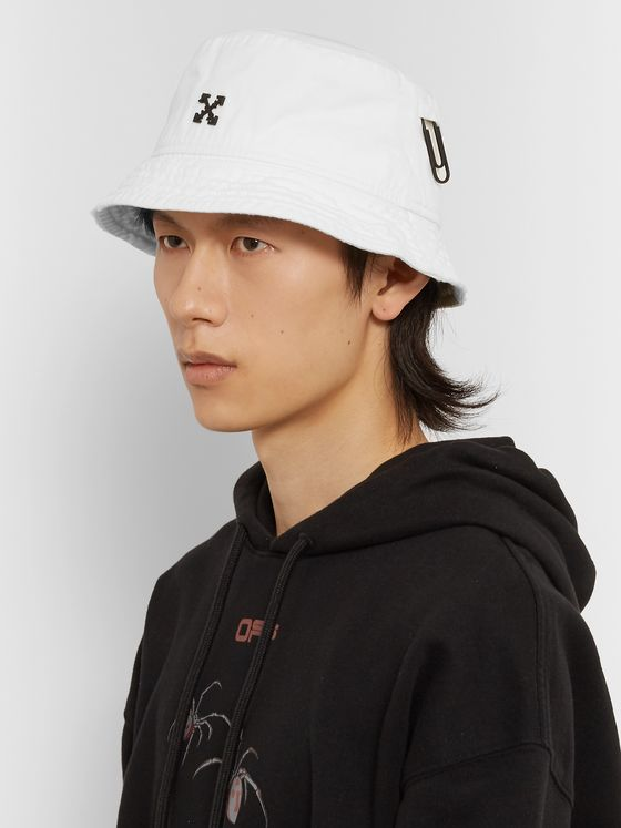 Off-White Logo-Embellished Cotton-Twill Bucket Hat