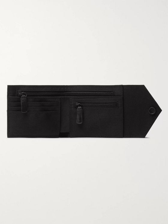 Off-White Chain-Embellished Bifold Canvas Wallet