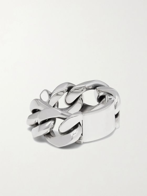 BOTTEGA VENETA Sterling Silver Chain Ring