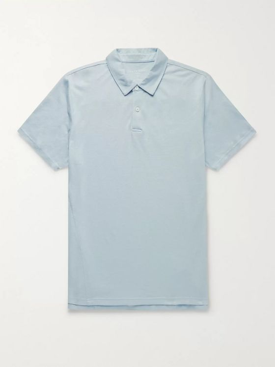 Derek Rose Ramsay Stretch Cotton and Tencel-Blend Piqué Polo Shirt