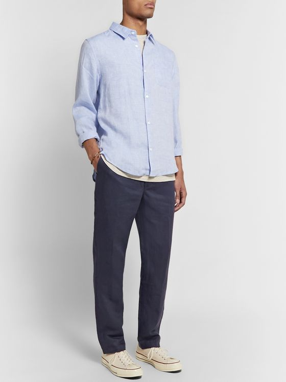 Derek Rose Drawstring Linen Trousers