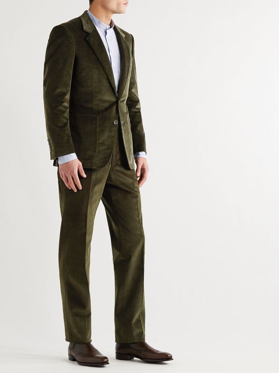 KINGSMAN Cotton-Blend Corduroy Suit Trousers