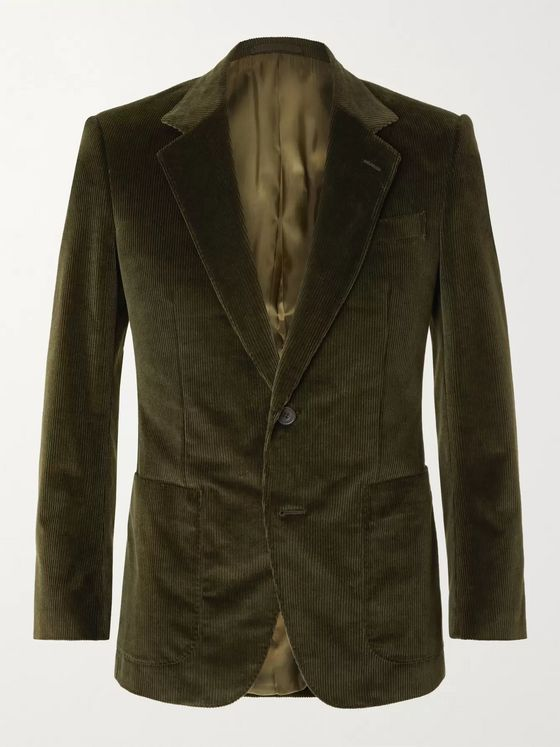 Kingsman Slim-Fit Cotton-Blend Corduroy Suit Jacket
