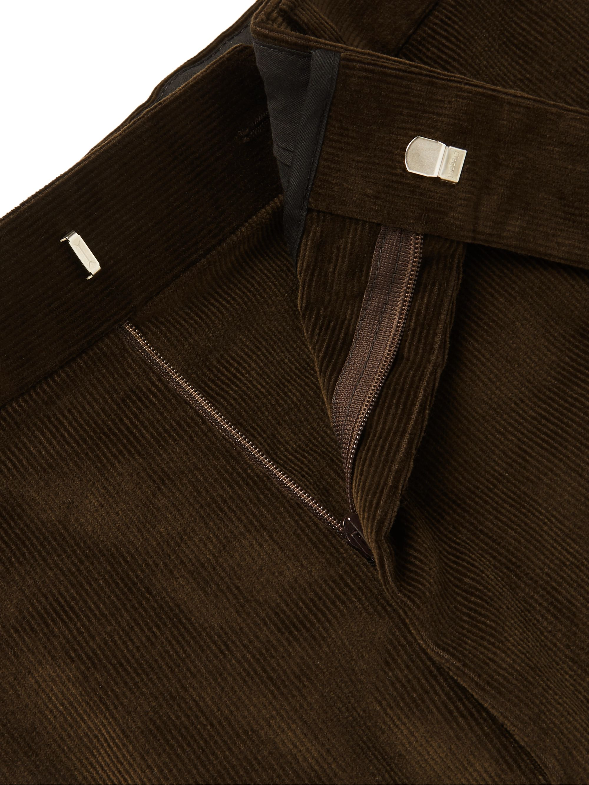 Kingsman Brown Slim-Fit Stretch-Cotton Corduroy Suit Trousers