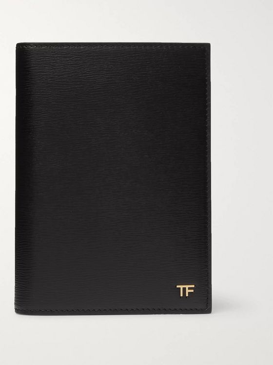TOM FORD Logo-Embellished Textured-Leather Passport Cover