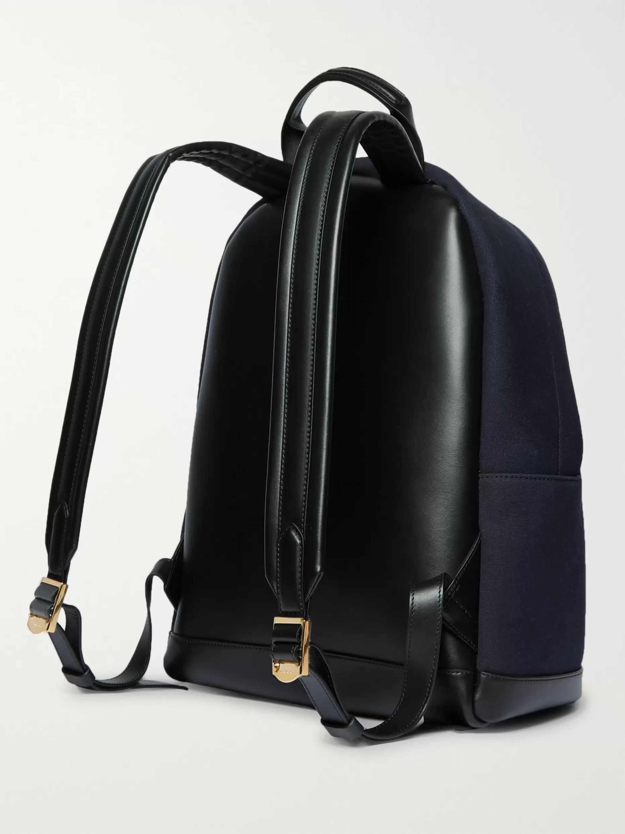 TOM FORD Canvas and Leather Backpack