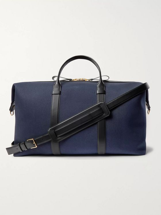 TOM FORD Leather-Trimmed Canvas Holdall