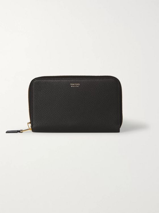 TOM FORD Full-Grain Leather Zip-Around Wallet