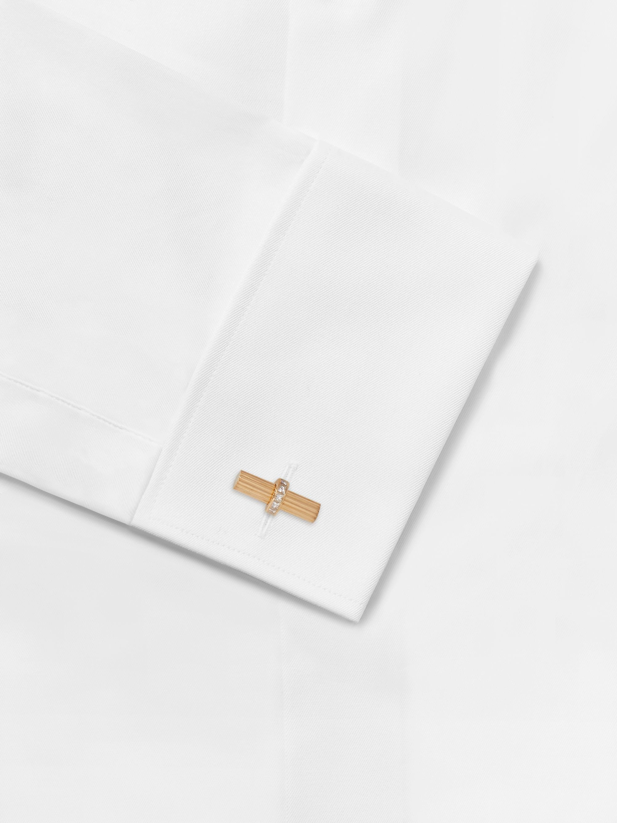 TOM FORD 18-Karat Gold Diamond Cufflinks