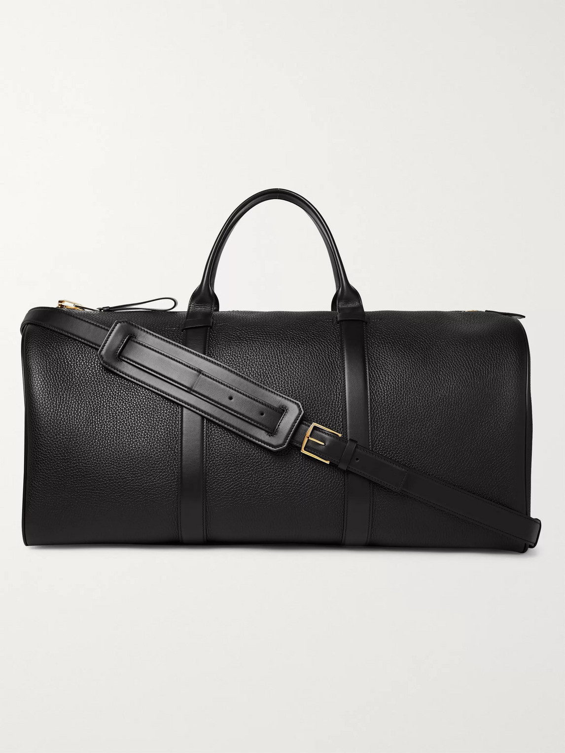 Tom Ford Buckley Pebble-grain Leather Holdall In Black