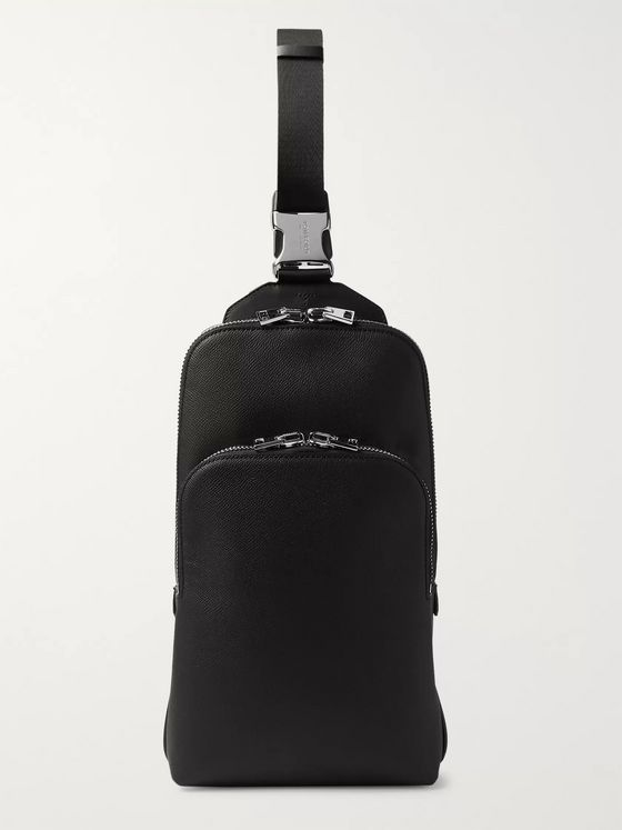 TOM FORD Full-Grain Leather Sling Backpack