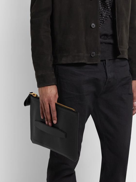 TOM FORD Full-Grain Leather Pouch