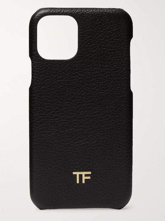 TOM FORD Logo-Embellished Full-Grain Leather iPhone 11 Case