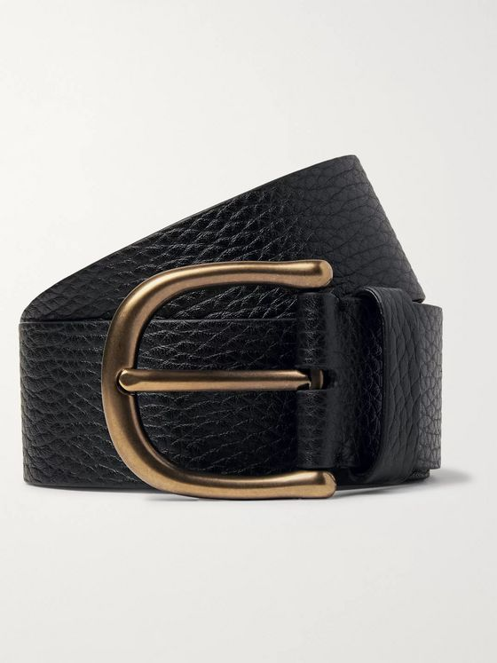 TOM FORD 4cm Dark-Brown Full-Grain Leather Belt