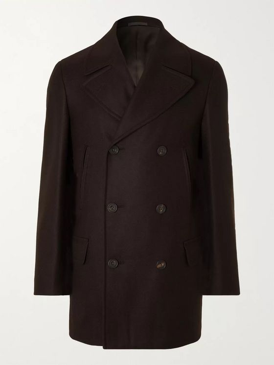 Kingsman Double-Breasted Wool Peacoat