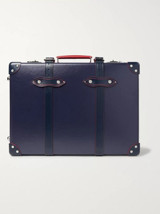 "Globe-Trotter St Moritz 20"" Leather-Trimmed Trolley Case"