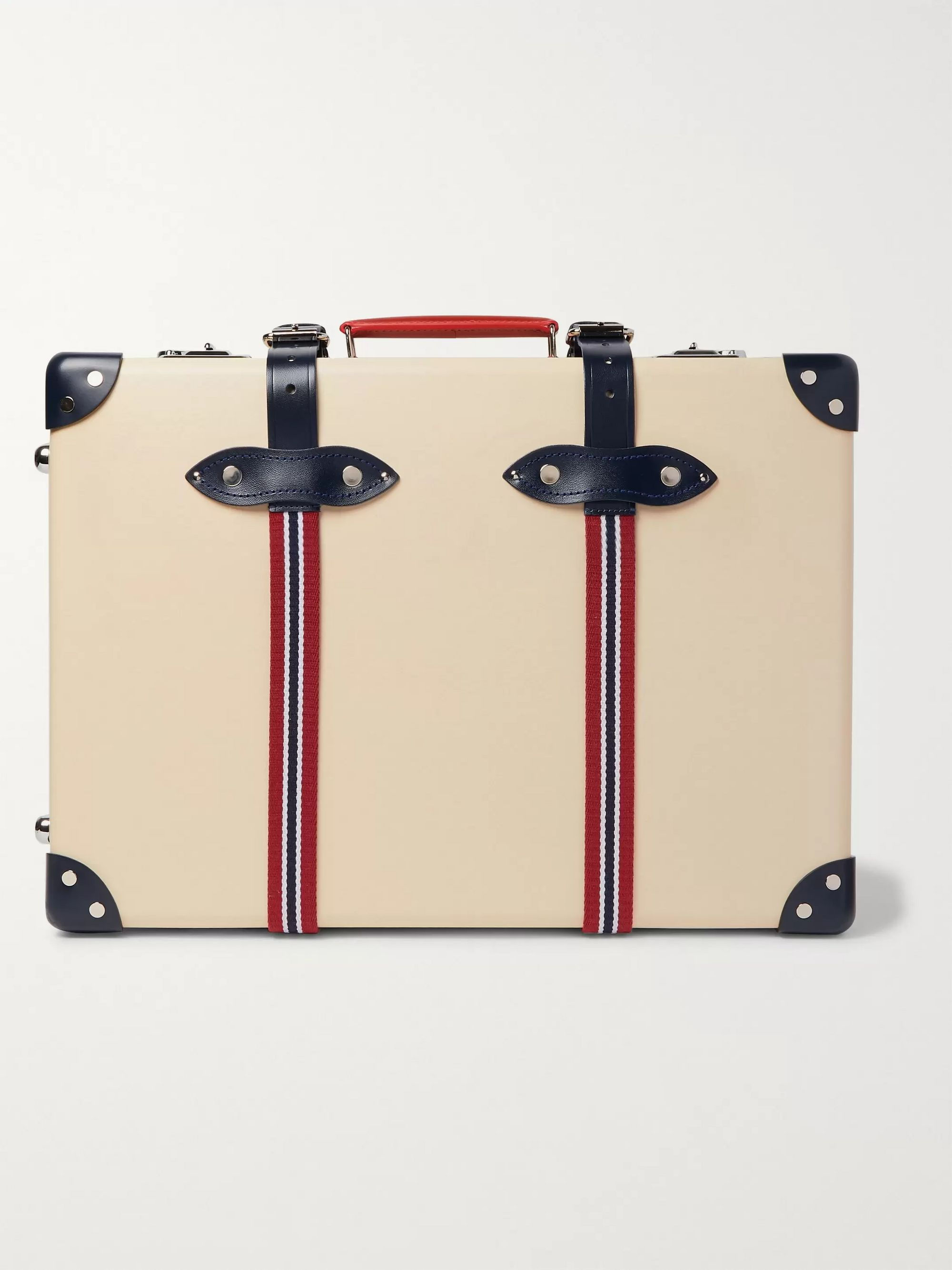 "Globe-Trotter St Moritz 20"" Leather and Webbing-Trimmed Carry-On Suitcase"
