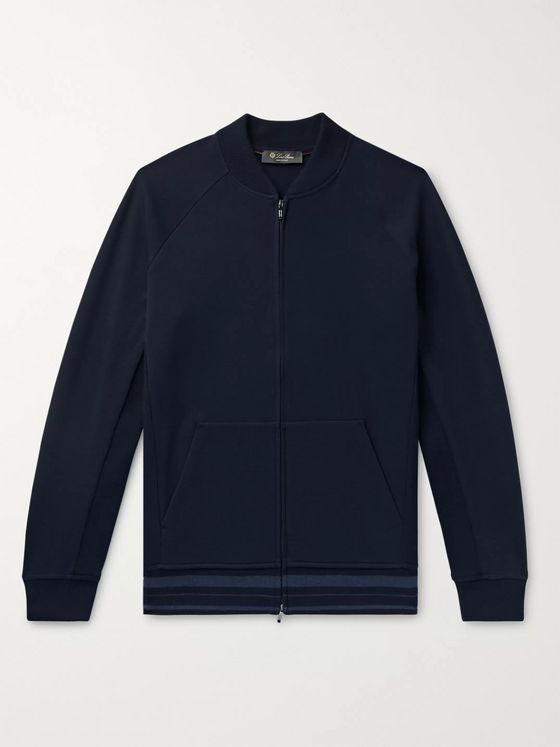 Loro Piana Wish Virgin Wool-Blend Jersey Bomber Jacket