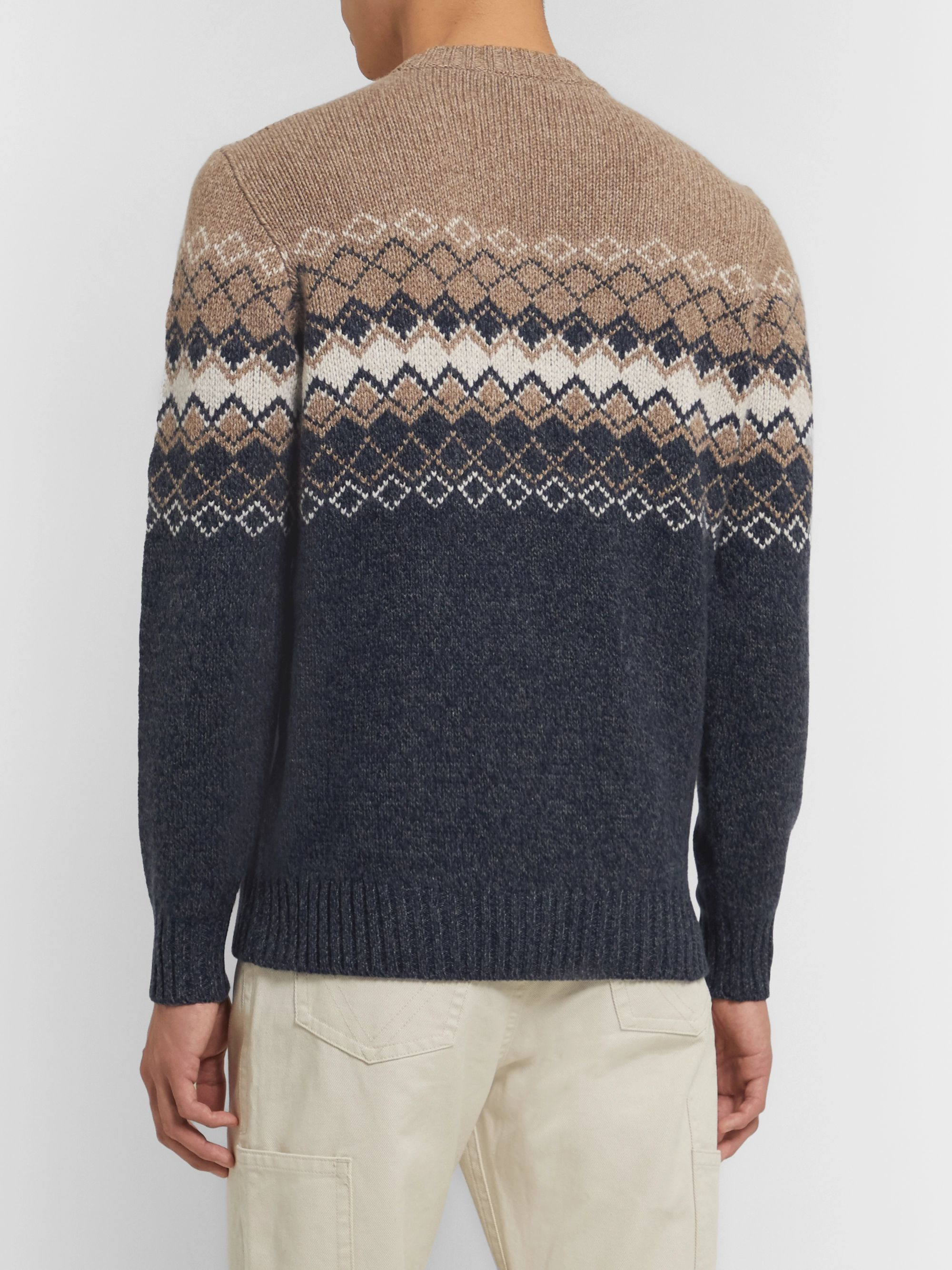 Loro Piana Fair Isle Baby Cashmere Sweater