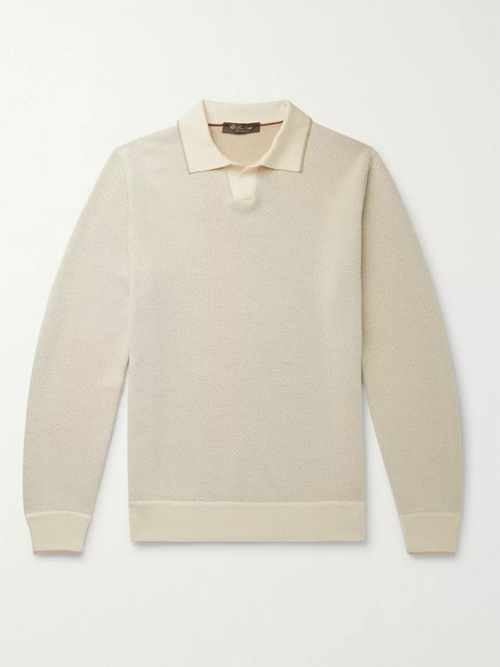 LORO PIANA Virgin Wool and Silk-Blend Sweater