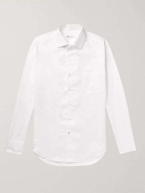 LORO PIANA André Cotton Oxford Shirt