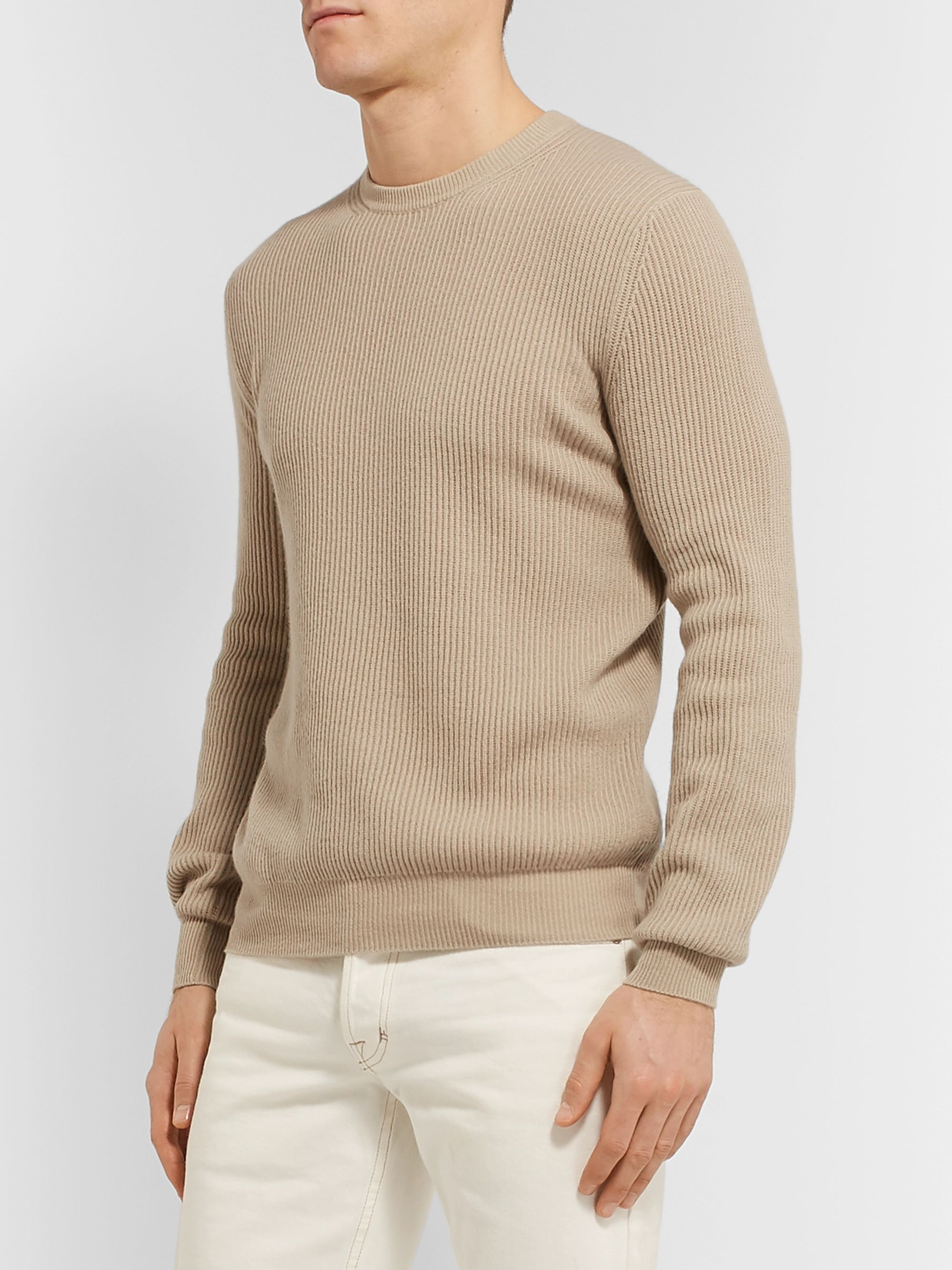 Loro Piana Slim-Fit Ribbed Cashmere Sweater