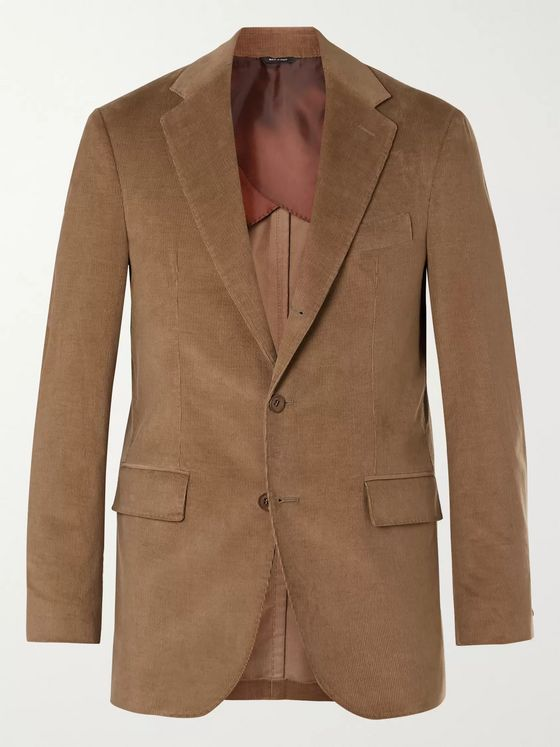 Loro Piana Rain System Cotton and Cashmere-Blend Corduroy Suit Jacket