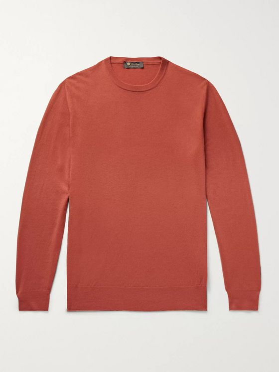 Loro Piana Girocollo Slim-Fit Baby Cashmere Sweater