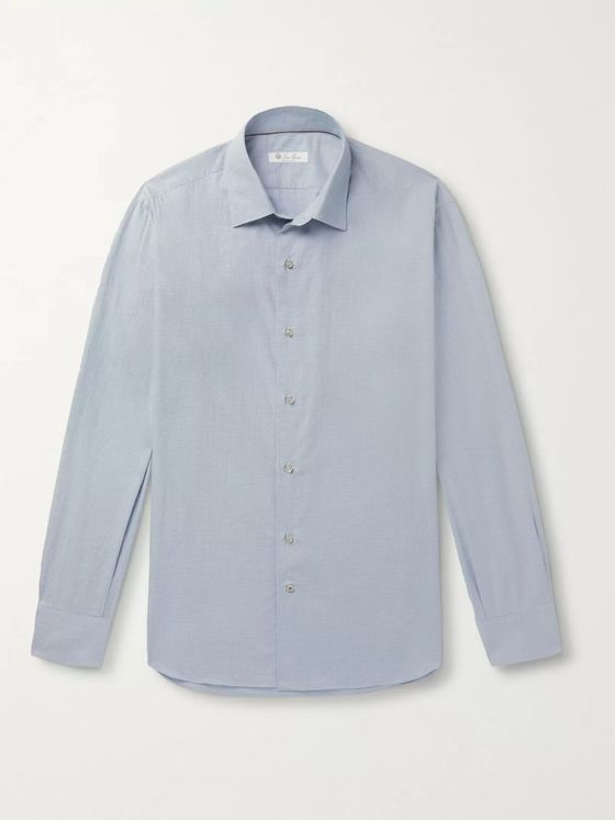 LORO PIANA Puppytooth Brushed-Cotton Shirt