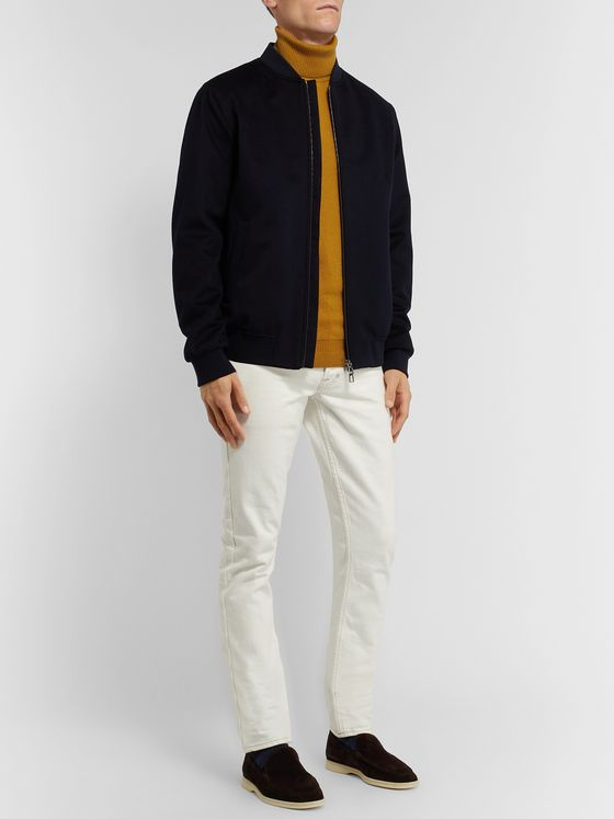 Loro Piana Cashmere and Silk-Blend Rollneck Sweater