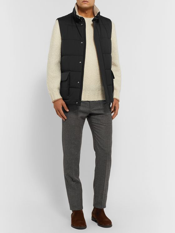 Loro Piana Storm System Quilted Shell Hooded Gilet