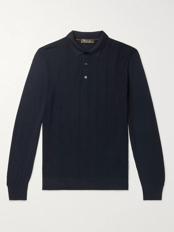 Loro Piana Slim-Fit Kilberry Virgin Wool Polo Shirt