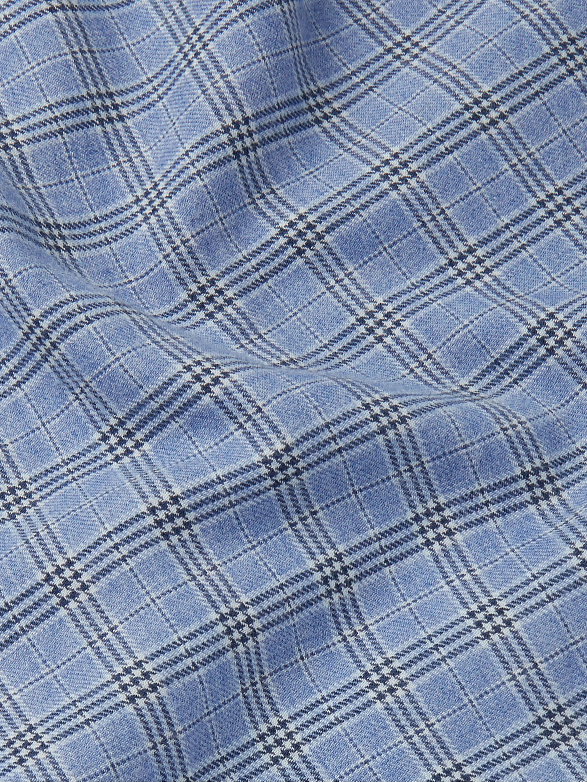 Loro Piana Slim-Fit Checked Cotton and Virgin Wool-Blend Shirt
