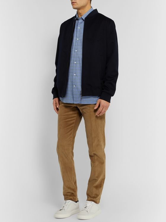 Loro Piana Slim-Fit Puppytooth Cotton and Virgin Wool-Blend Shirt