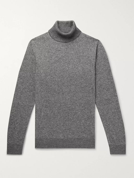 Loro Piana Mélange Cashmere and Silk-Blend Rollneck Sweater