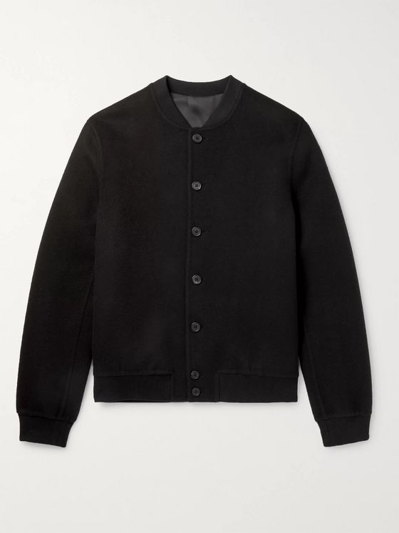 THE ROW Trevor Double-Faced Cashmere Bomber Jacket