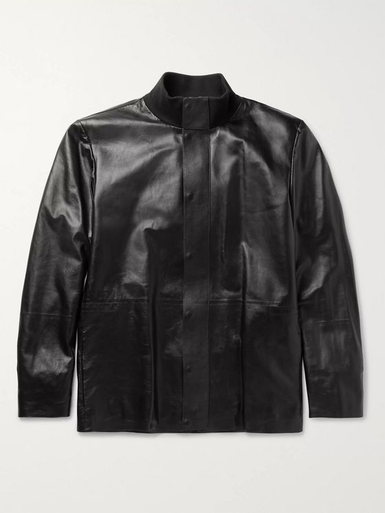 The Row Warren Leather Jacket