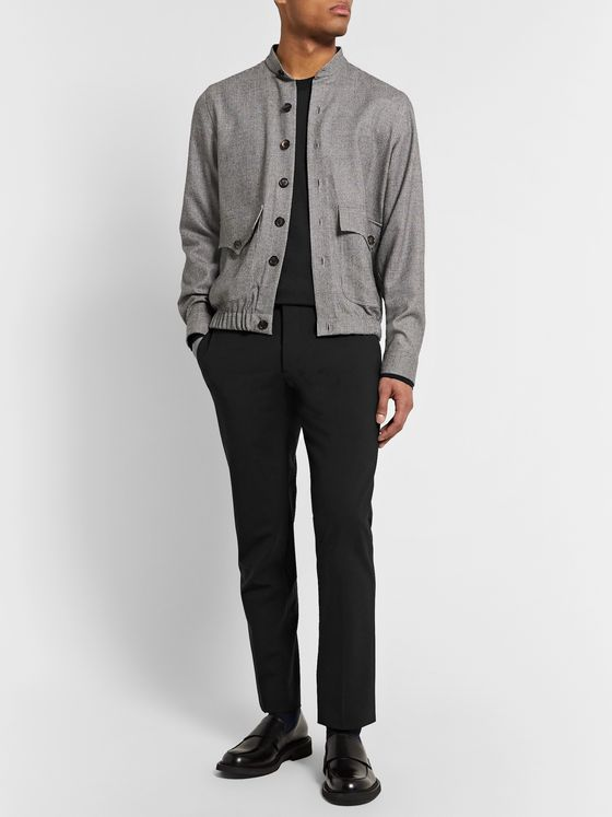 The Row Scott Silk and Cotton-Blend Sweater