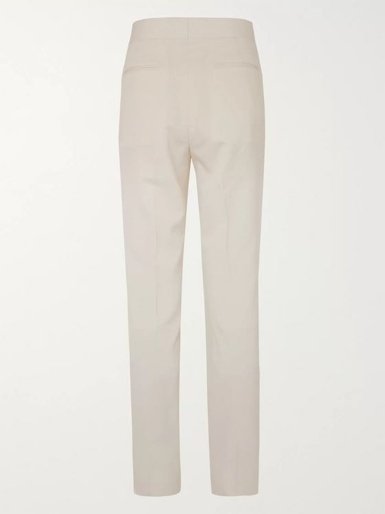 THE ROW Isaac Slim-Fit Wool and Silk-Blend Suit Trousers
