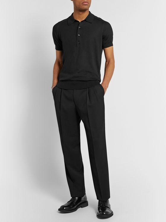 THE ROW Pavel Silk and Cotton-Blend Polo Shirt