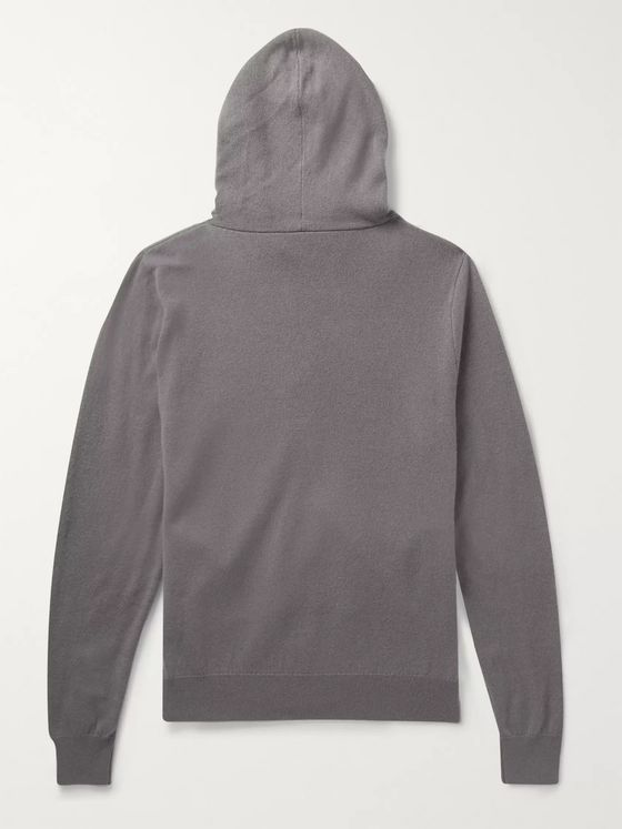 The Row Harry Cashmere Zip-up Hoodie