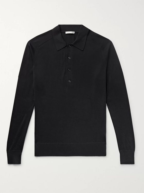 The Row Dylan Silk and Cotton-Blend Polo Shirt