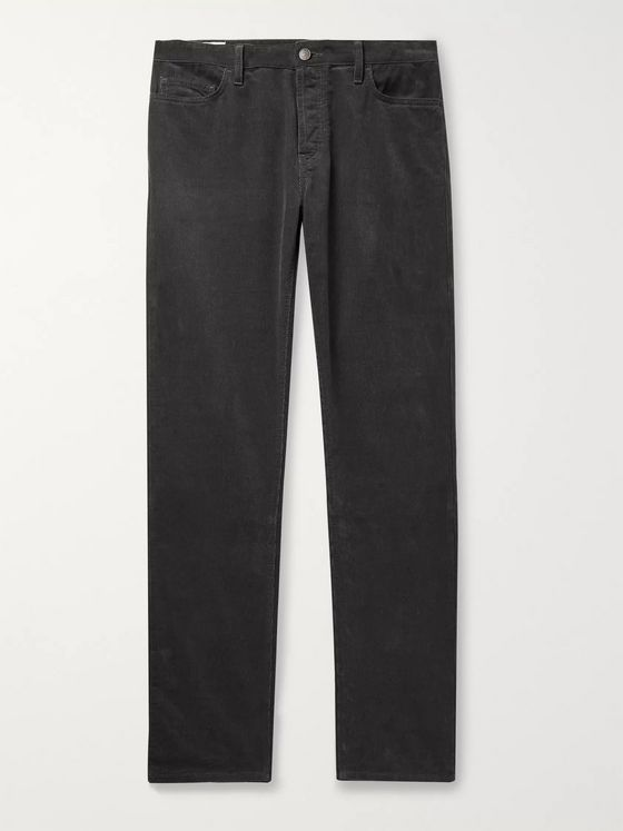 The Row Irwin Slim-Fit Cotton-Corduroy Trousers