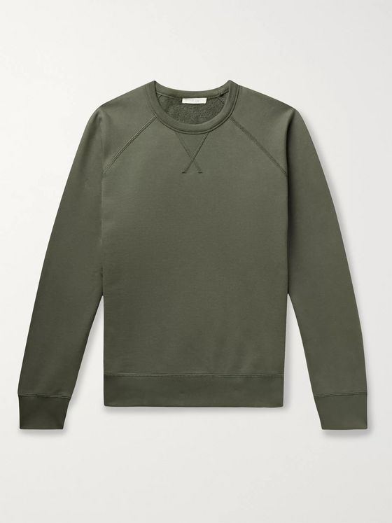 THE ROW Sal Loopback Cotton-Jersey Sweatshirt