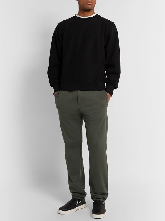THE ROW Olin Tapered Cotton-Jersey Sweatpants