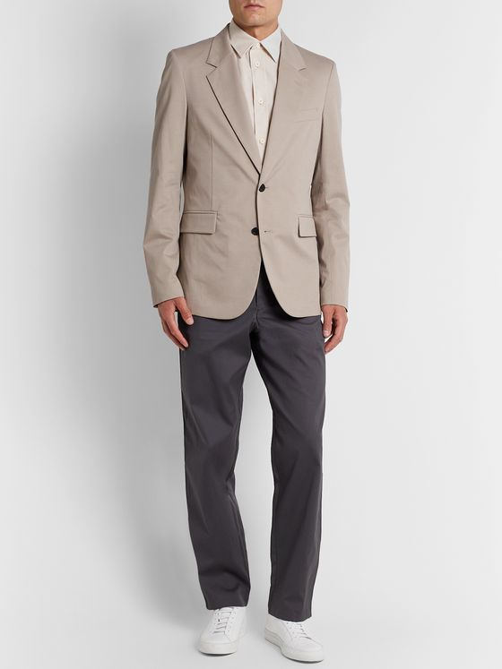 The Row Slater Cotton-Blend Drill Blazer